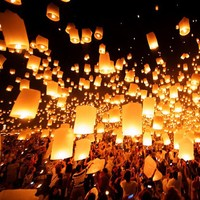 Chinese flying lampion outdoor for halloween