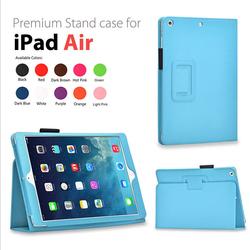Slim Folding Folio Stand PU Leather Case for iPad Air