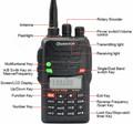 Wouxun kg-uvd6 2m-70cm de mano radio de dos vías