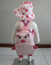 BH05 pink pig school backpack for gril