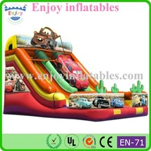 2015 new style car inflatable bouncer slope slide high quality inflatable toys funny cartoon inflatable slide