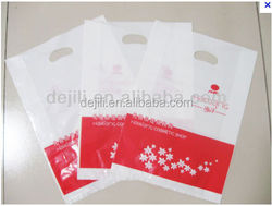 Plastic Die Cut Shopping Carrier Bags with Patch Handle
