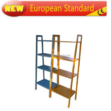 Classtic solid wood office book shelf, magazine rack 4 tier Shelves Media Cases Wall Mount Stand