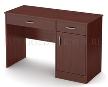 Simple design melamine wooden computer desk, dark brown student writing desk (SZ-OD360)