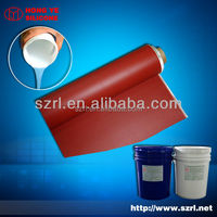 Textile printing silicone rubber ink