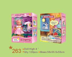 DEFA child toy manufacturers children's doll 4 inch fashion dolls 4 inch doll