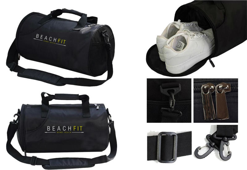 Quality sport gym travel bags price with shoe compartment for wholesale