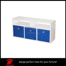 factory wholesale PB blue playroom furniture shelf unit