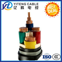 0.6|1kv low voltage 3 core 25mm2 copper conductor XLPE insulated PVC sheathed power cable electric cable manufacture
