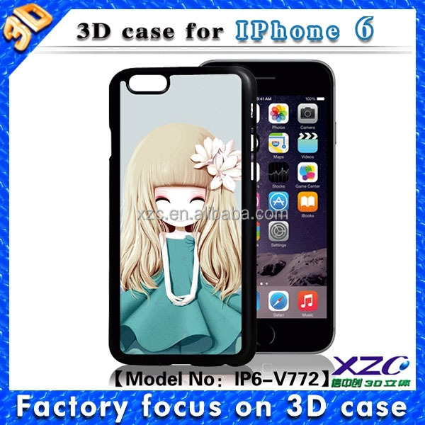 ... cute girl design 3D lenticular picture cover for lenovo a536 case