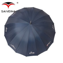 UV protection advertising windproof straight umbrella 27 inches 16K auto open