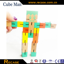 trans wooden robot toys for kid brain toys IQ practicing