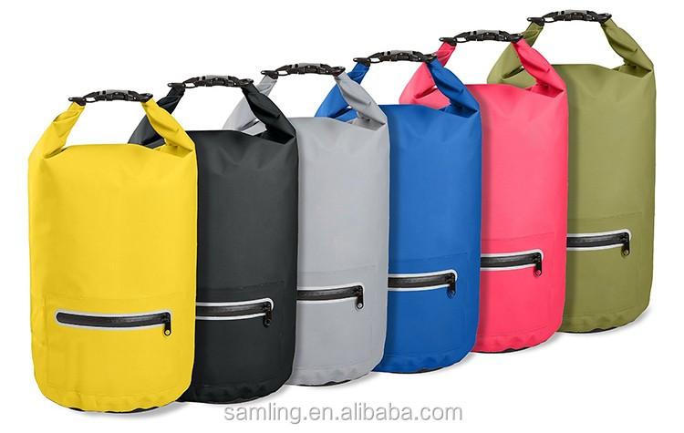 Logo personalizzato 20L Sealock Galleggiante Incatramata Del PVC Impermeabile Wet Secco Bag Oceano Zaino