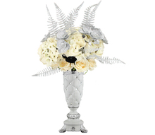 china hand cut ceramic flower vases for headstones JHF-2226A