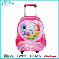 2016 New Design Fashion Polyester Cartoon Kids School Trolley Bag