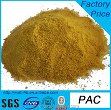 Best selling yellow Poly Aluminium Chloride(PAC) used for wast water treatment