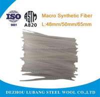 Macro Synthetic Fiber (PP Fiber ) used in concrete to improve tensile strength from factory