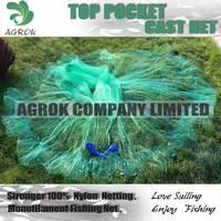 """3/4""""Str*12FT TOP POCKET-Japanese Style Cast Net Throwing Fishing net shrimp net"""
