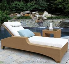 Poolside Wicker/Rattan Sunbed Set Lounger Outdoor Furniture