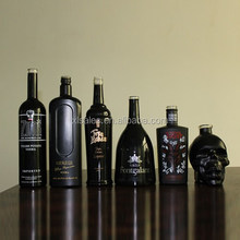 MATTE BLACK BOTTLE VODKA 500 ML 750 ML DESIGN