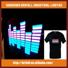 EL shirts,musical shirts and LED el visualizer t-shirt