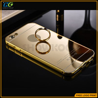 New Luxury Fashion Rose Gold CNC Metal PC Mirror Case For Iphone 6s