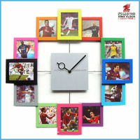 12 Photo Frame Wall Clock Home Decoration Christmas Gift Art Square Shape Clock