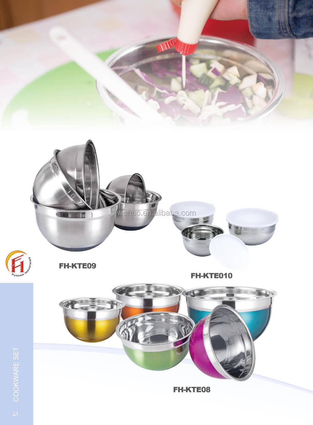 Roestvrij staal moderne keuken ontwerp arabische kom met 5 maten ...