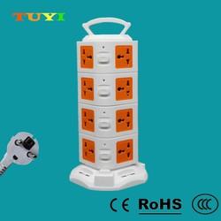 Shenzhen usb socket 16-hole 4-layer 4USB versatile creative outlet vertical outlet socket drag strip tower household outlet