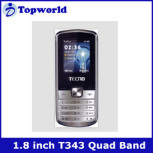 "T343 1.8""QCIF Each core platform 8851chip Quad band Dual SIM card dual standby mobile phones factories in china"
