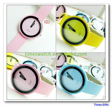Chrismas ISSEY MIYAKE gift watch brief fashion dial ladies watch candy color Silicone jelly watch