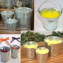 Garden Mosquito Repellent Citronella Candles Metal Bucket