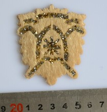 New sticker rhinestone beatles shape crystal stone mesh with horsehair and glue for bags/garment trim decoration