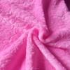 cutting flower flannel fleece fabric 100% polyester rose soild pattern