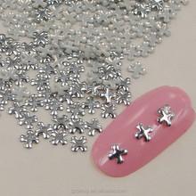 10000pcs Gold/Silver Metallic Criss-cross Studs Bright 3D Nail Art Decoration Studs Charms Nail Art Sticker MZX:MD335