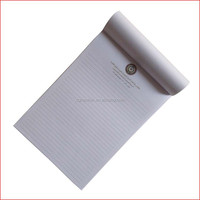 High quality printed white paper legal pad