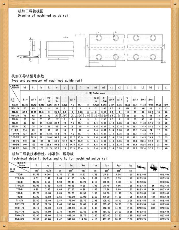 elevator parts/t type elevator guide rail