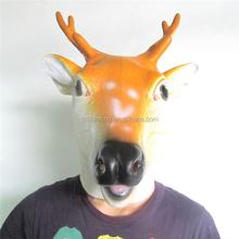 movie masks latex/ Halloween party Latex animal Sika Deer Mask