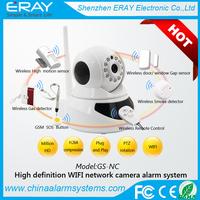 Home IP burglar alarm wireless video security system, wifi/google play/app gS-NC