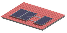 Tile Roof, Solar Mounting System with Clamps, On-Grid System