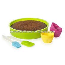 colorida decoración de pasteles de utensilios