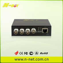 IP camera analog to IP converter ethernet over coaxial cable /EOC converter 1 ethernet port with 4 BNC port