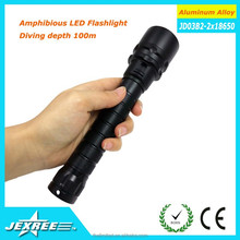 Top quality Police Security flashlight 3000lumen Aluminum Alloy Diving Torch Light