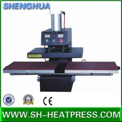 Pneumatic fabric heat press machine