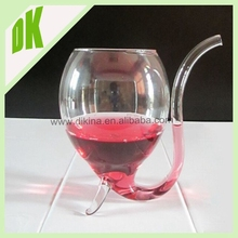 100% refund the money for broken piece clear glass wine bottle vampire // transparent plastic wine glass with lid