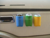 PromotionalNovelty Solid Color Full Color Plain Insulated Keeps Drink Cold Bicycle Car whisky Beer Magnetic Bottle Holder
