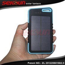 Seksun wholesales portable solar power charger 5000mah faster charger Intelligent solar move power