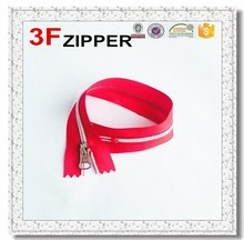 5# upholstery zippers good quality nylon zipper with plastic top stop white teeth FX1575