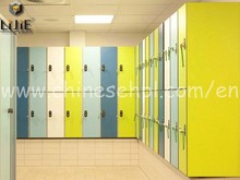 electronic high gloss white compact laminate locker cabinet with stainless accessories for swimming pool changing room gym