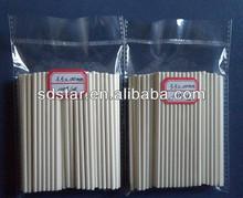 100 pieces per polybag of paper sticks, cake paper sticks